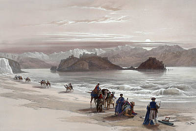 Painting - Isle Of Graia Gulf Of Akabah Arabia Petraea Feby 27th 1839 by Munir Alawi