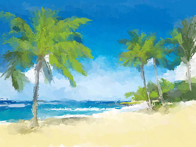 Beach Landscape Mixed Media - Isle Of Palm Beach by Anthony Fishburne