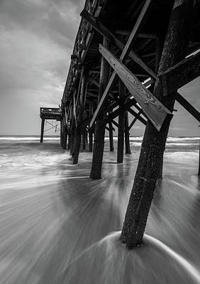 Photograph - Isle Of Palms Pier Water In Motion by Donnie Whitaker