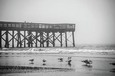 Photograph - Isle Of Palms Pier And Fog by Donnie Whitaker
