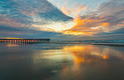 Photograph - Isle Of Palms Pier At Dawn by Donnie Whitaker