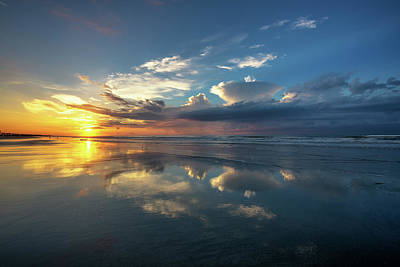 Photograph - Isle Of Palms Sunrise Reflection by Donnie Whitaker