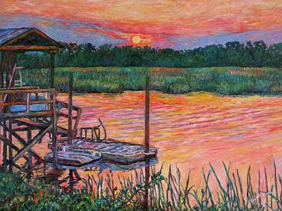 Painting - Isle Of Palms Sunset by Kendall Kessler