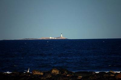 Photograph - Isle Of Shoals From Afar by Robert Morin