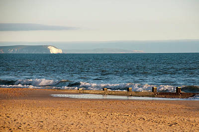 Photograph - Isle Of Wight As Seen From Bournemouth Beach by Phyllis Taylor