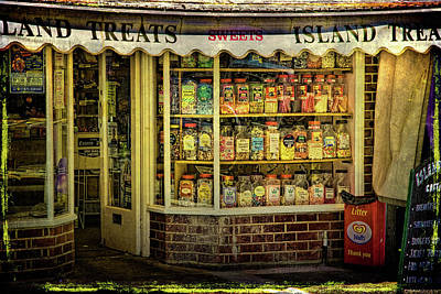 Isle Of Wight Candy Store Art Print by Chris Lord