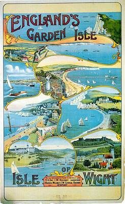 Royalty-Free and Rights-Managed Images - Isle Of Wight England - Vintage Travel Advertising Poster by Studio Grafiikka