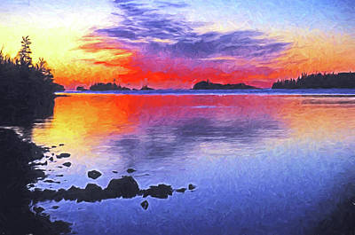 Digital Art - Isle Royale Dawn by Dennis Cox Photo Explorer