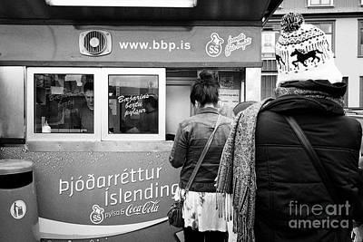 Hotdog Stands Photograph - islendingar ss pylsur hot dog stand reykjavik Iceland by Joe Fox