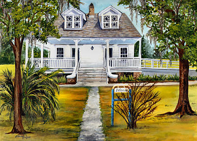 Southern Plantation Painting - Islenos Museum by Elaine Hodges