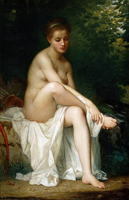 Charles Landelle Painting - Ismenie Nymph Of Diana by Charles Zacharie Landelle