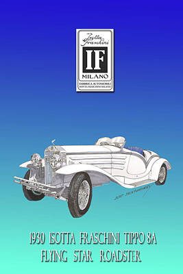 Isotta Fraschini Type 8 Flying Star Roadster Original by Jack Pumphrey
