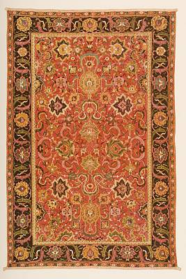 Persian Carpet Drawing - Ispahan Rug From The 16th Century by Vintage Design Pics