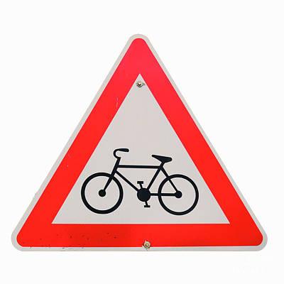 Israel, Bicycle Caution Sign Art Print by Ilan Rosen