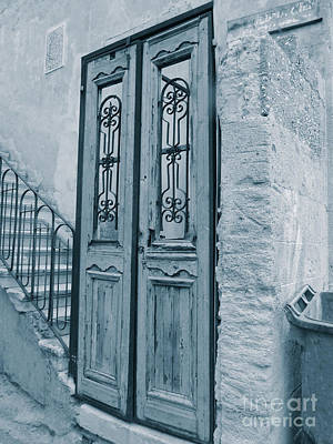 Photograph - Israel Door Blue Tone by Donna Munro