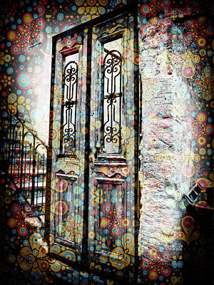 Digital Art - Israel Door Colored by Donna Munro