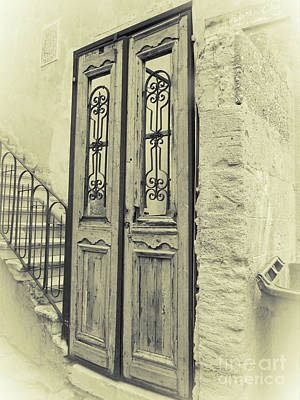 Photograph - Israel Door Sepia by Donna Munro