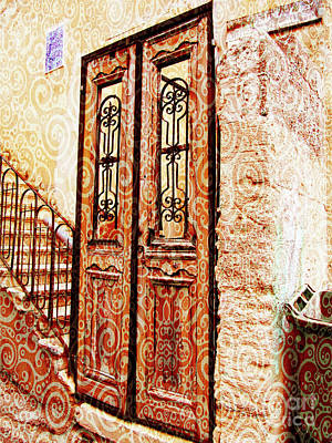 Digital Art - Israel Door Swirl by Donna Munro