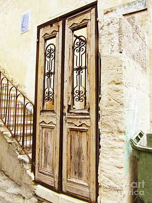 Photograph - Israel Door Yellow by Donna Munro