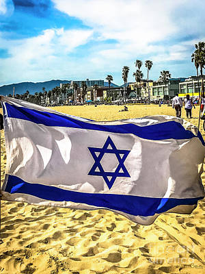 Photograph - Israel Flag by Julian Starks