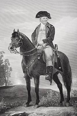Bunker Hill Drawing - Israel Putnam 1718 - 1790. Army Officer by Vintage Design Pics