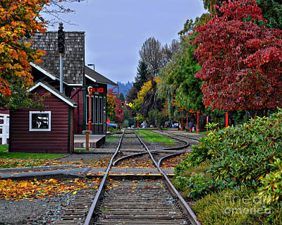 Photograph - Issaquah Train Station by Kirt Tisdale