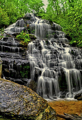 Photograph - Issaqueena Cascade Falls 016 by George Bostian