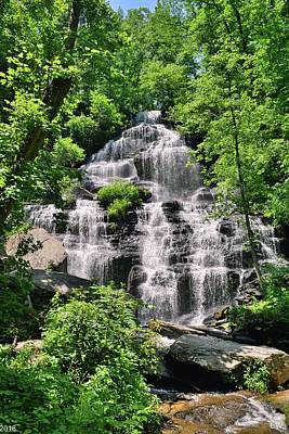 Photograph - Issaqueena Falls South Carolina Summertime Vertical by Lisa Wooten