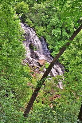 Photograph - Issaqueena Waterfall South Carolina Summertime Vertical by Lisa Wooten