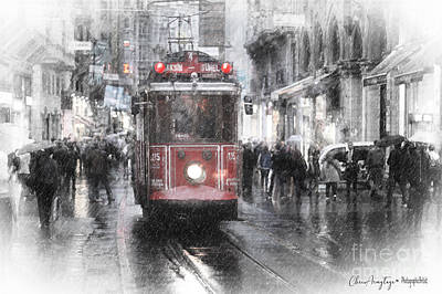 Mixed Media - Istambool Historic Tram by Chris Armytage