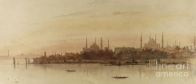 Architecture Drawing - Istanbul by Alfred de Courville