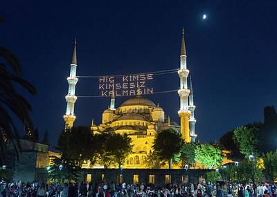 Byzantine Photograph - Istanbul Blue Mosque At Ramadan by Stephen Stookey