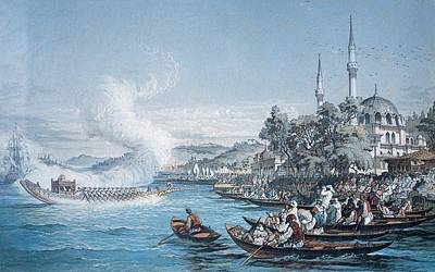 Amedeo Preziosi Painting - Istanbul Boats by Amedeo Preziosi
