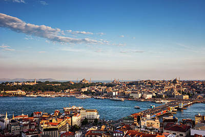 Photograph - Istanbul City At Sunset In Turkey by Artur Bogacki