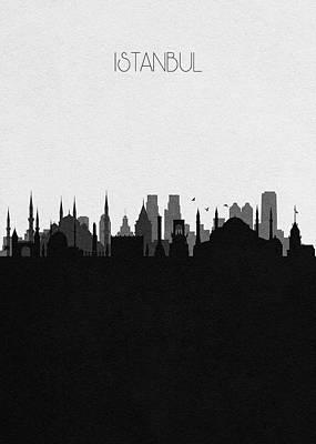 Digital Art - Istanbul Cityscape Art by Inspirowl Design