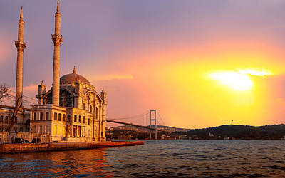 Landmark Digital Art - Istanbul by Maye Loeser