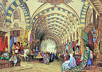 Orthodox Painting - Istanbul Old Market by Munir Alawi