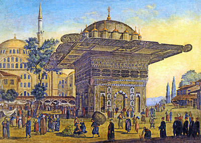 Orthodox Church Painting - Istanbul Outdoor Bazaar by Munir Alawi
