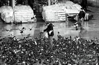Photograph - Istanbul Pigeon Man by John Rizzuto
