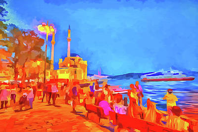Mixed Media - Istanbul Pop Art by David Pyatt
