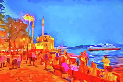 Turkey Mixed Media - Istanbul Pop Art by David Pyatt