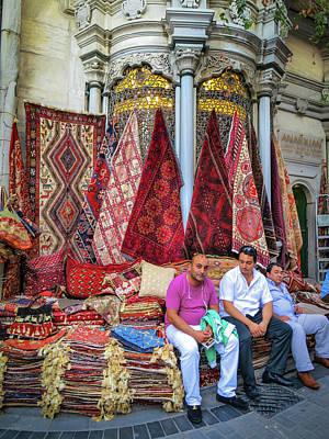 Istanbul Rug Merchants Art Print by Ross Henton