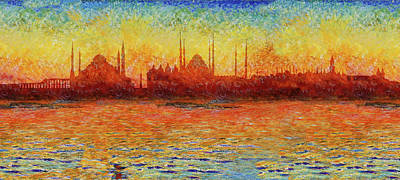 Photograph - Istanbul Skyline 3 by Andrew Fare