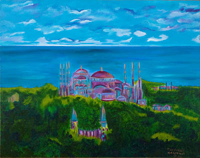 Istanbul Skyline Art Print by Dani Altieri Marinucci