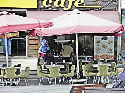 Photograph - Istanbul Street Cafe by Sarah Loft