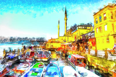 Turkey Mixed Media - Istanbul Turkey Art by David Pyatt