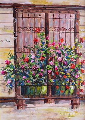 Painting - Istanbul Window by Lou Ann Bagnall