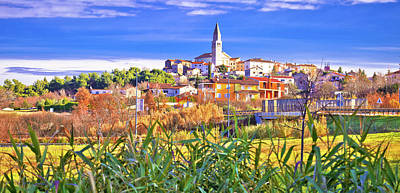 Katharine Hepburn - Istrian town of Visnjan panoramic colorful view by Brch Photography