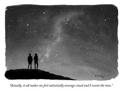 Sky Drawing - It All Makes Me Feel Statistically Average by Will McPhail