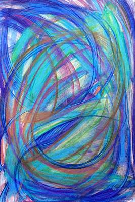 Contemporary Abstract Drawing - 'it Becomes Difficult' by Kelly K H B